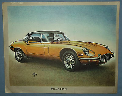 Old South African BP Motor Show Jaguar E-Type Poster