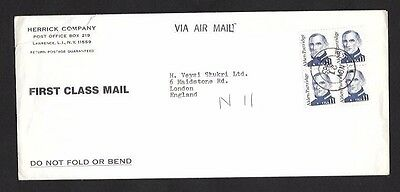 Cover United State to England Postmark ; 1985 Air Mail Long Cover
