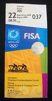Orig.Ticket  Olympic Games ATHEN 2004  -  ROWING  22.08. / 7 Finals  !!  RARE