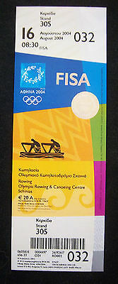 Orig.Ticket  Olympic Games ATHEN 2004  -  ROWING  16.08.2004  !!  RARE