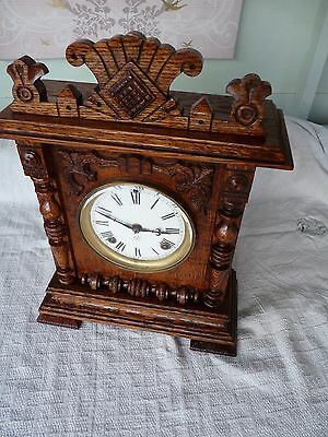 Ansonia 1/2 hr strike mantel clock. prize medal awarded Paris Expedition 1878