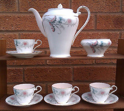 Aynsley - Part Coffee Set Selection - Pink & Blue Flowers - C1449/3.