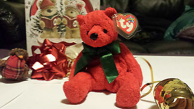MINT TY Mistletoe Beanie Baby with tag error, date error