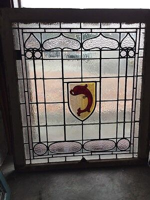 Sg 911 Antique Dolphin Design Center Window Textured Glass
