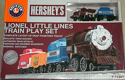 Lionel Hershey Little Lines Train Play Set Remote Control Reverse Reese Twizzler