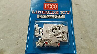 A model railway plastic kit by peco for N gauge of level crossing gates