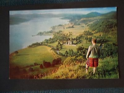 Inveraray And Castle From Duniquaich Hill Old Postcard
