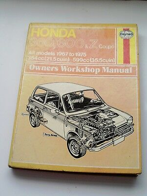 Honda 360, 600 & Z Coupe Haynes Workshop Manual 1967 To 1975 - Good Condition
