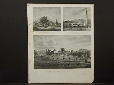 New York, Historical Engravings 1867 Map Putnam County, Brewsters O5#36