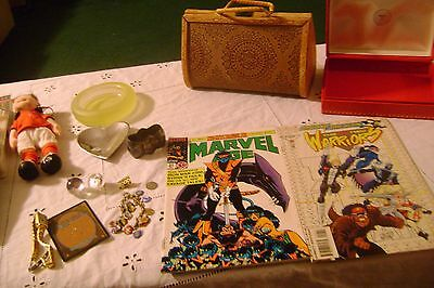 Vintage to Now Junk Drawer-MIXED LOT- in MEDIUM Flat Rate Box Miscellaneous  #18