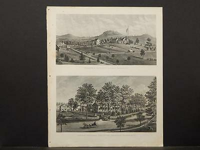 New York, Historical Engravings 1867 Map Dutchess County, Putnam County O5#38