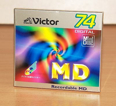 minidisc VICTOR MD 74E new&sealed