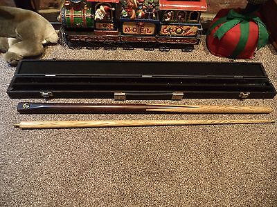 MBS Snooker Pool two piece Cue with Case.