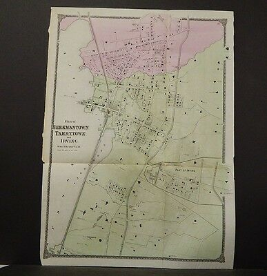 New York, Westchester County Map, 1867 Beekmantown, Tarrytown, Irving !O5#42