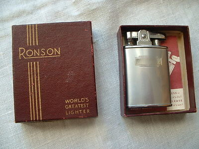 Boxed Ronson banker chromium butler cigarette lighter