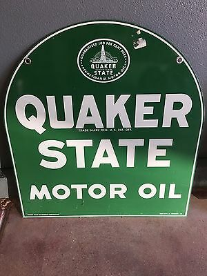Vintage Tombstone Quakerstate Sign