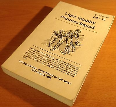 Original 1986 Department Of The Army Field Manual: Light Infantry Platoon/squad