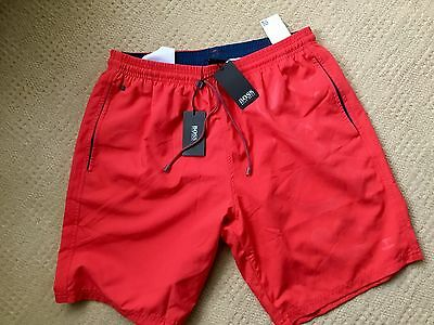 Hugo Boss Bright Red Orca Swim Shorts Bnwt Size Medium