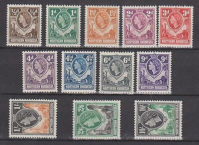 NORTHERN RHODESIA 1953 VALUES TO 10s MNH