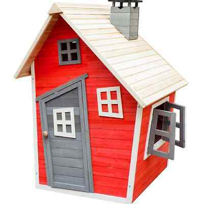 Kids Garden Wooden Playhouse Wendy Houses Outdoor Shed Storage Sheds Toys NEW