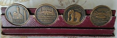 French Colonial Exhibition 1931 set of 4 Medals