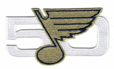 St. Louis Blues 50Th Anniversary Season Patch 2016-17 Puck Style Stanley Cup