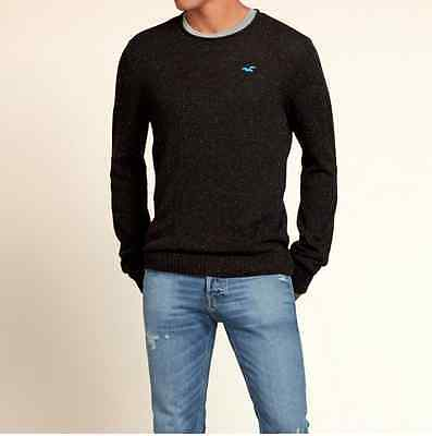 Hollister Co. Mens Ponto Beach Rolled Neck Sweater in Dark Brown M