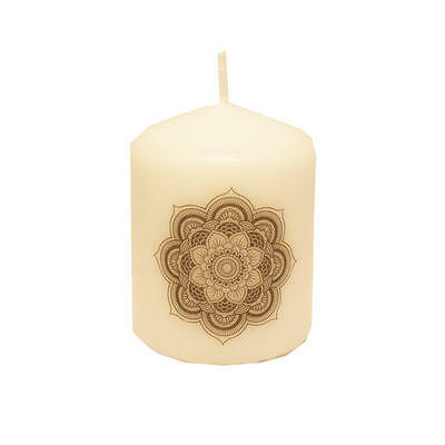 Mandala Printed Candle, Boho,Bohemian, Goth,Gothic,Celestial,Witch,Wicca,Wiccan