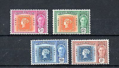 set of 4 mint GVI stamps from mauritius