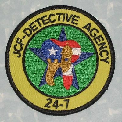 "JCF Detective Agency 24-7 Patch - Puerto Rico  - 3 1/2"" x 3 1/2"""