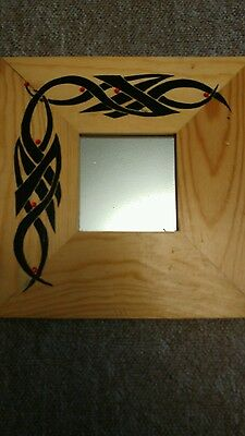 Mirror with hand painted frame