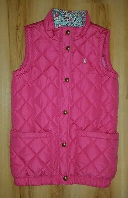 Joules Girls Pink Gilet. Age 11-12 years