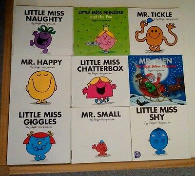 Mr men and little miss collection of books. Book bundle.