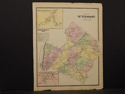 New York, Westchester County Map, 1867 Town of Mt. Pleasant O5#65