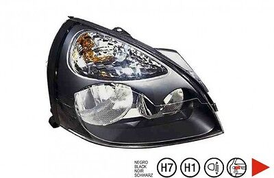 Renault Clio 2 phase 2 Phare droit H1+H7 [Noir]