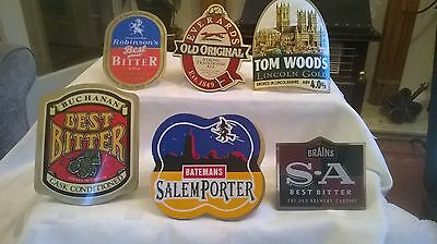 6 x Pump Clips from Different Breweries