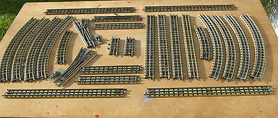 Vintage Hornby Dublo 3 Rail Track & Points In Good Clean Condition  26 Pieces