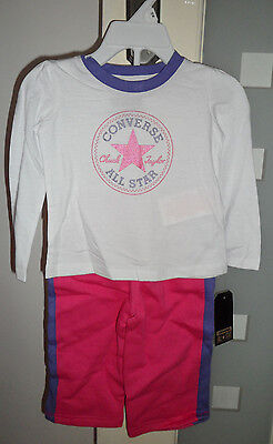 BNWT Girls Converse All Star Tracksuit Age 12 months