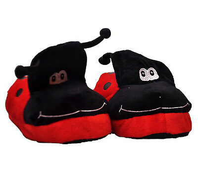 Ladybug Kids Slippers Small Novelty Moving Gift Children Toy House Shoes