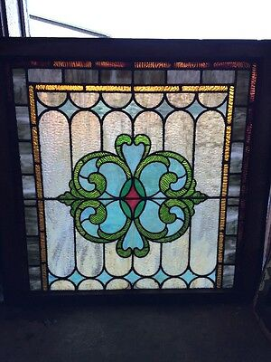 Sg 939 Antique Stainglass Landing Window Celtic Design
