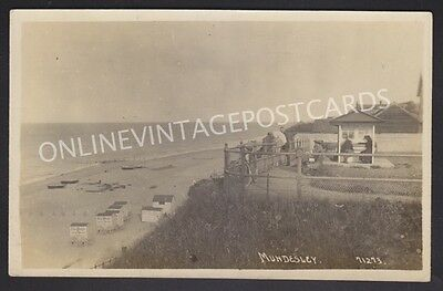 Norfolk Mundesley Real Photo Local Paper Adverts On Bathing Huts