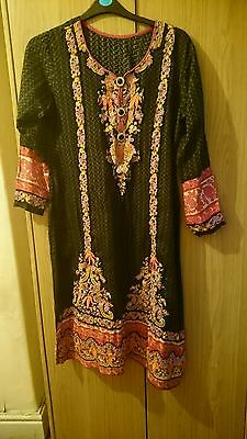 Ladies kurta size medium black mixed colours by Persia