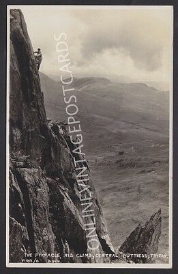 Rock Climbing In Snowdonia Tryfan Awh Hutton Real Photo