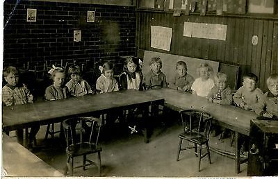 REAL PHOTO, Unknown location Group of School Children Unused c1905-1910.