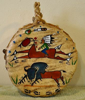 A Good Day/Native American Drum Painted by Lakota Artist Sonja Holy Eagle