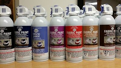 Pack 3 Upholstery Fabric Spray Paint non toxic non flammable as seen on TV