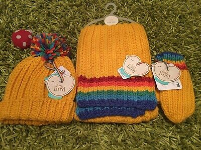 Little Bird Jools Oliver Winter Full Rainbow Knitted Set Boys Girls 3-6 Years