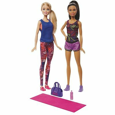 NEW! 2016 Barbie & Christie Exercise Fun Two Doll Playset ~ New In Box