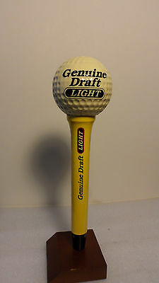 Miller Light Genuine Draft Golf Ball & Tee Figural Tap Handle 9""