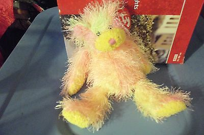 Rainbow The  Bear  Ty Punkies  Retired New 9 Inches